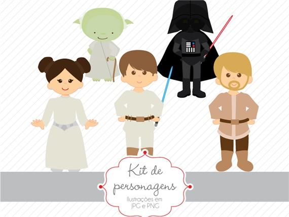 Kit De Personagens Star Wars Personagens Estudio Tuty